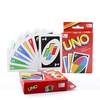 Wholesale Play Entertainment - 200sets Family Funny Entertainment Board Game UNO Fun Poker Playing Cards Puzzle Games Standard uno card Free Shipping