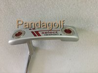 Wholesale Left Handed Golf Putters - Left hand Golf Putter Clubs New port 2 steel shaft 33 34 35 Inch golf clubs Putter With Head Cover