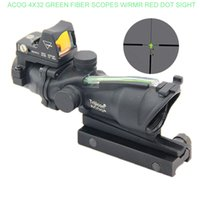 Wholesale Trijicon Acog Scopes - Nes Tactical Optic Scopes Trijicon ACOG Scopes TA31 4X32 Green Fiber Source Illuminated Scope with RMR Micro Red Dot