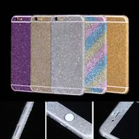adesivo adesivo de proteção venda por atacado-Para apple iphone7 7 plus 6 6 s mais bling telefone adesivo skid scratch resistente decoração adesivo de proteção casos de telefone