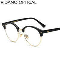 Wholesale Cute Frames - Vidano Optical New Arrival Cute Round Women Sunglasses Summer Fashion Men Sun Glasses Brand Designer Sunglasses UV400 Gift Free Shipping