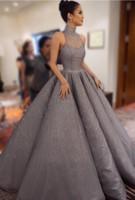 Wholesale robes longue sexy online - Plus Size Evening Dresses Long Luxury Evening Dresses FLace Celebrity Dresses vestidos de novia A Line Prom Gowns robe de soiree longue