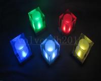 mesas de cubo con luz led al por mayor-Cubo de luz solar Luces de velas electrónicas de luz solar LED Luces de la diversión de la mesita de noche de la mesa de noche / lámpara casera inteligente regalo de vacaciones de boda creativo