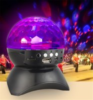 Wholesale Disco Speakers - 2017 Wholesale-New LED Stage Effect Lights Portable Stereo Mini Bluetooth Speaker Colorful with MP3 Speaker FM for Party KTV Disco DJ