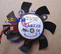 Wholesale Graphics Card Free - Free Shipping For Sapphire HD4350 4550 A5010L12S 2.6-2.6-2.0cm 5010 graphics card fan DC12V 0.08A