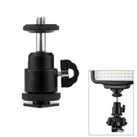 "Wholesale Screw Head Camera - Mini Ball Head Mount 360 degree 1 4"" Screw for Canon Nikon DSLR Camera Tripod Hot Shoe Adapter Black"