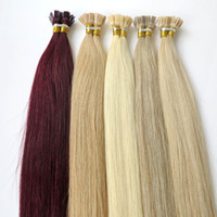 Wholesale Lasting years Brazilian Hair Keratin Flat Tip Hair Full Cuticle Remy Indan Peruvian Malaysian Pre bonded Human Hair Extensions
