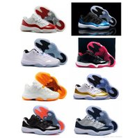 Wholesale Blue Box Delivery - Retro 11 Basketball Shoes Mens Bred Citrus Concord Bred Georgetown GS Sneakers Designer Low Retro XI 11s For Men With Box Fast Delivery
