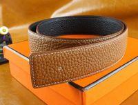 Wholesale Girls Brown Leather Belts - 2017 Smooth buckle belts for men designer belts men high quality leather luxury belt women Strap Free shipping