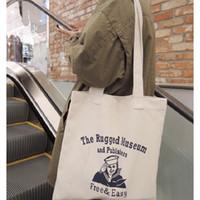 Wholesale Handbags Korea Wholesale - Wholesale- Korea Street Trend Style Canvas Travel Shopping Tote Bag Simply Design Single Shoulder Bag Environment-friendly Handbag