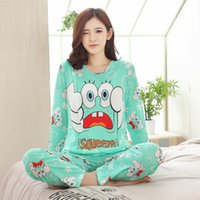 Wholesale Girls Pyjama S - New Listing 2017 Autumn  Spring Carton Pyjamas Women Girl Pajama Sets Cartoon Sleepwear Pajamas for women Long-Sleeved Tracksuit