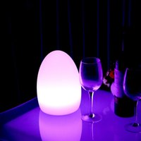 Wholesale colorful bedding - Rechargeable Colorful LED Egg Bar Table Lamp Break-resistant Rechargeable LED Glowing Lighted Egg Night Light for Christmas Club Bars Light