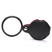 Portable Mini Black 50mm 10x Main-Hold Reading Magnifying Magnifier Lens Glass Foldable Jewelry Loop Jewelry Loupes