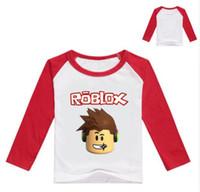 blusa amarilla bebé al por mayor-2017 otoño camiseta de manga larga para niñas camisa roblox blusa amarilla para niños camiseta de algodón camisa deportiva disfraz roblox para bebé