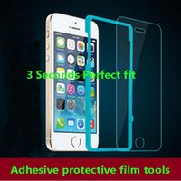 Wholesale Film Device - For iPhone 5 5S 6 6 Plus SE 6S 6S Plus glass screen Protective film paste artifact auxiliary device tool stick frame tools