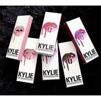 Wholesale Wine Skins Wholesale - 2016 Kylie Jenner Lip Kit Moisturizing Lip Gloss Fit All Kinds of Skin Includes 1 Lipstick & 1 Lipliner Kylie Matte Lipstick