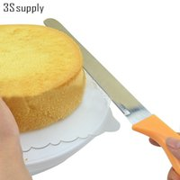 отделка тортами из нержавеющей стали оптовых-Wholesale- 10/12 Inch Zigzag Shaped Stainless Steel Cream Butter Pastry Spatula Knife Cake Smoother Scraper Baking Cake Decorating Tools