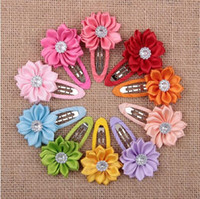 Wholesale Hair Color Edges - Hair Accessories Korean Children Jewelry Wholesale Multi Angle Sun Petals Wrapping BB Hairpin Clip 10 Colors Choose New Edge Color YH427