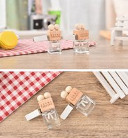 Wholesale Diffuser Tip - Wholesale 100PCS Empty Portable Glass Bottles 5ML Perfume Car Diffuser For Aromatherapy Essential Oil with Candy Style Tip