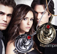 Wholesale Elena Nina Vervain - The Vampire Diaries Diary Lockets Necklaces Elena Nina Vervain Pendant With Crystal Jewelry Movie Fashion Accessories for Lady Xmas Gift