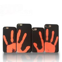 Wholesale color changing case for sale - Group buy Thermosensitive Color Change Case Magical PU Fingerprint Back Cover Temperature Sensing Thermal Sensor Heat Shell For Iphone s plus pc