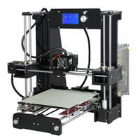 Wholesale 3d stl - Freeshipping Aluminium Hotbed 3D Printer Size 220*220*250mm Reprap Prusa i3 DIY 3D Printer Kit 2Rolls Filament 16GB SD Card Tool Free