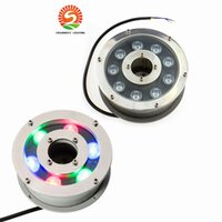 Wholesale 6W W W Underwater Pond light IP68 White Warm White RGB LED fountain light DC12V V Swimming Pool light Led Decoration lamp