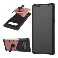 Wholesale Chinese Swing - Samsung Galaxy Note 8 Phone Case 2 in 1 Armor Anti-drop Swing Kickstand Flip Cover for Samsung j7 j5 j2 2016 S6 note 5 S6 edge Shell OPP Bag