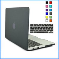 Wholesale Macbook Keyboard Cover Free Shipping - Matte Rubberized Shell Case with Silicone keyboard Cover for New Mackbook 12 Retina for Macbook Air Pro Retina 11 13 15 Inch case Free Ship