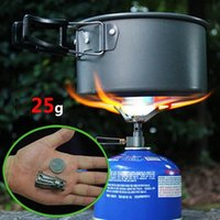 Wholesale Professional Portable Mini Camping Titanium Stove Outdoor Gas Stove Survival Furnace Stove Pocket Picnic Cooking Gas Burner brs t
