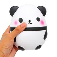 ingrosso uova di mele-Spremere Panda Egg Toy Jumbo Rising lento Kawaii Super Big Panda Ball Soft Cute mano cuscino dolce crema profumata giocattolo di rilievo di stress