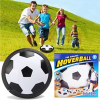 Wholesale Light Up Soccer Ball - Air Power Soccer Ball LED Light Up flying toy Colorful Disc Indoor Football Multi-surface Hovering and Gliding toy OTH417