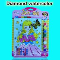 Wholesale Educational Paint Supplies - High quality handmade diamonds children's watercolor DIY painting supplies for children's drawing learning and educational toys