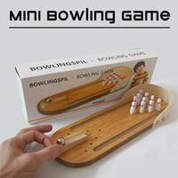 Wholesale Desktop Bowling - Desktop Bowling Tabletop Mini Wooden Bowling Game kids toys Education Toys Party games Free shipping wholesale[Zorn toys]