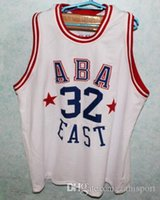 Wholesale Aba Basketball - LJULIUS ERVING #32 ABA EAST Basketball Jersey Embroidery Stitches Customize any size and name