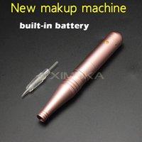 Wholesale latest lip makeup resale online - 2017 Latest Recharge Battery Beauty Machine Permanent Makeup Machine For Tattoo Eyebrow Lips Electric Cartridge Needles Makeup Machine Pen