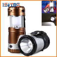 Wholesale Portable Usb Retractable - Retractable USB Solar LED Camping Tent Light Lamp Waterproof Outdoor Portable Lantern for Camping Hiking Emergency Flashlight