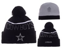 Wholesale Cowboy Hats Girls Pink - 2017 New Beanies Dallas Pom Knit Hats Sports Cap Beanies Hat Mix Match Order All Caps in stock Top Quality Hat free shipping