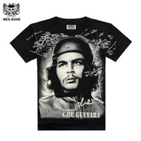 Wholesale Che Free - Wholesale- [Men bone] Summer Fashion Che Guevara Men's Shirt 3D printing T shirt Argentina hero men T-shirt cotton Tees free shipping