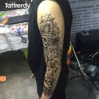 Wholesale Newest design large waterproof fake paste sticker leg painting full arm paper tattoo Sleeves on the body shoulder