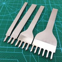 Wholesale Craft Punches Wholesale - 10ests lot 4mm Prong Leather Craft Tools Portable Hand Tool Hole Punches Stitching Punch Kits 1 2 4 6 Prong Leather Tools
