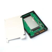 msata mini pci e al por mayor-Al por mayor-MSATA Mini PCI-E SSD a 7 + 15pin 2.5 pulgadas SATA Converter Adapter Case Rainbow