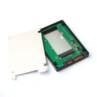 mini pci sdd sata toptan satış-Toptan Satış - MSATA Mini PCI-E SSD 7 + 15pin 2.5 Inç SATA Dönüştürücü Adaptör Vaka Gökkuşağı