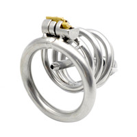 Wholesale Male Chastity Tube Cage - Metal Chastity Cage Cock Rings with Removable Catheter Sound Horse Eye Catheter Tube Male Bodage Sex Toys for Men G173