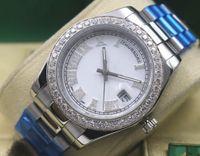 Wholesale Diamond Hand Bracelets - AAA Top Quality Day-Date II President Automatic Mechanical Men's Watch 218238 Stainless steel bracelet Diamond Bezel Dial Men's Casual Watch