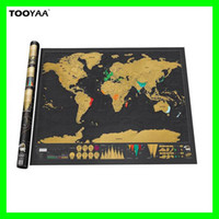 Wholesale Creative World Scratch Map x cm Travelling Scratch Off Maps Home Wall Sticker Home Decoration