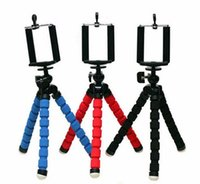 Universal Polvo MINI Trípode Stand Flexível Gorillapod Trípodes Stander para GoPro Camera iPhone Android Phone Trípode Stand Mount With Holder