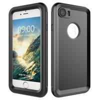 sugeçirmez kirli çanta toptan satış-YENI Su Geçirmez Kılıf iphone 7 7 artı Dalış Için darbeye dayanıklı kir geçirmez telefon Sualtı Kılıfı Kılıf Kapak i7Plus Telefonları Çanta Kabukları ile kutu