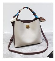 Wholesale New Style Side Bags - New Female Double Sides Patchwork Shoulder Bag Women Simplicity Style Tote Silk Scarf Chic Lady Tote