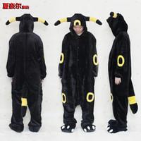 Wholesale Kigurumi Animal Onesie - Unisex Adult Pajamas Kigurumi Cosplay Costume Sleepwear Flannel Animal Onesie black elf S M L XL